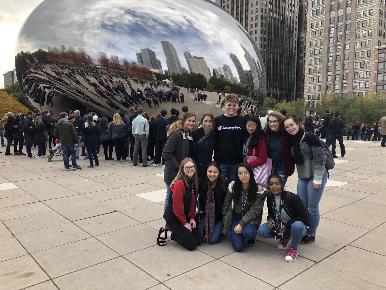 Millard+students+visit+The+Bean+in+Chicago