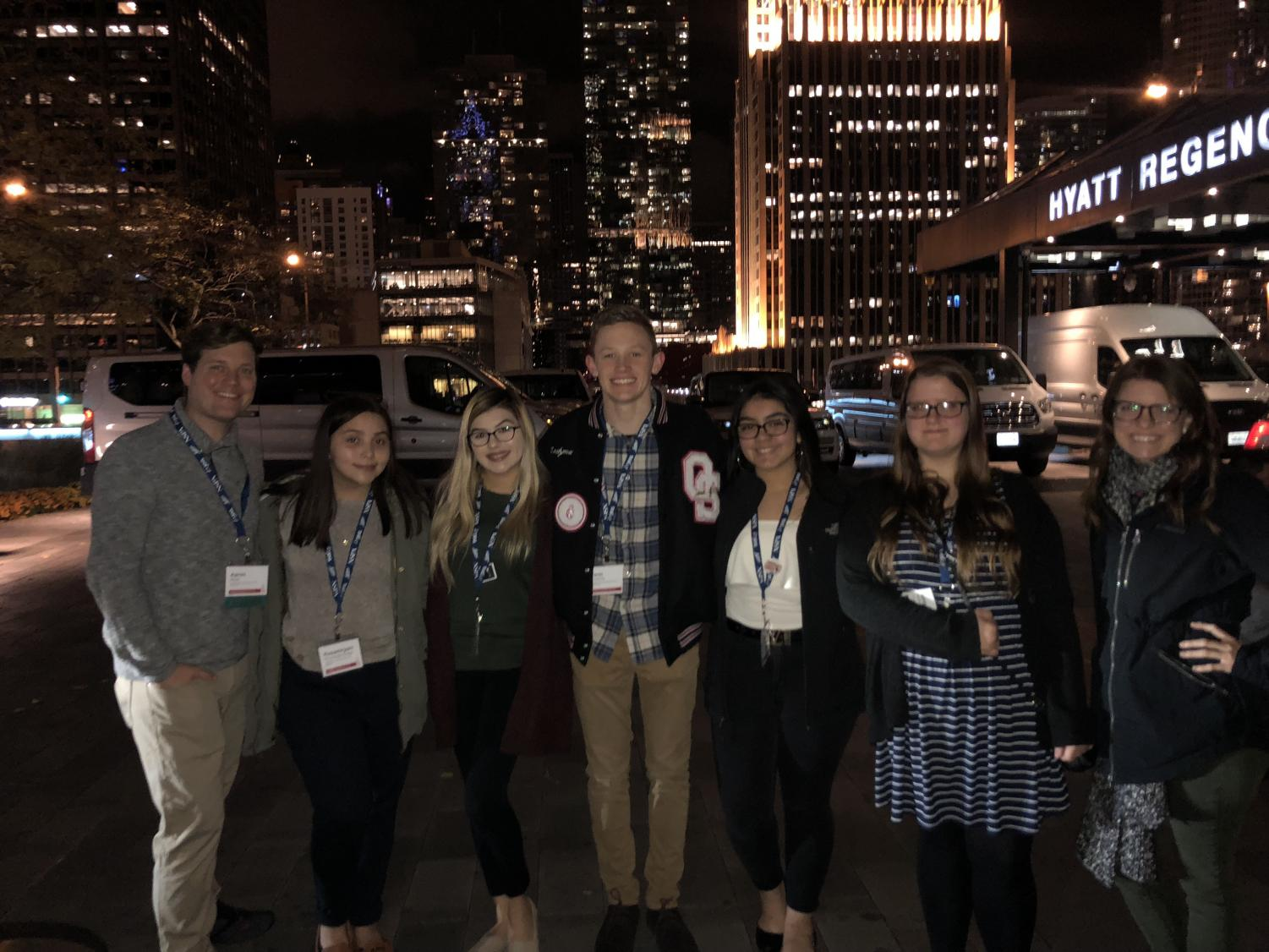 A group of Omaha South students in Chicago for the JEA/NSPA convention.